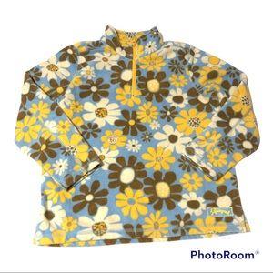 Life is Good Retro Floral 1/4 Zip Fleece Pullover